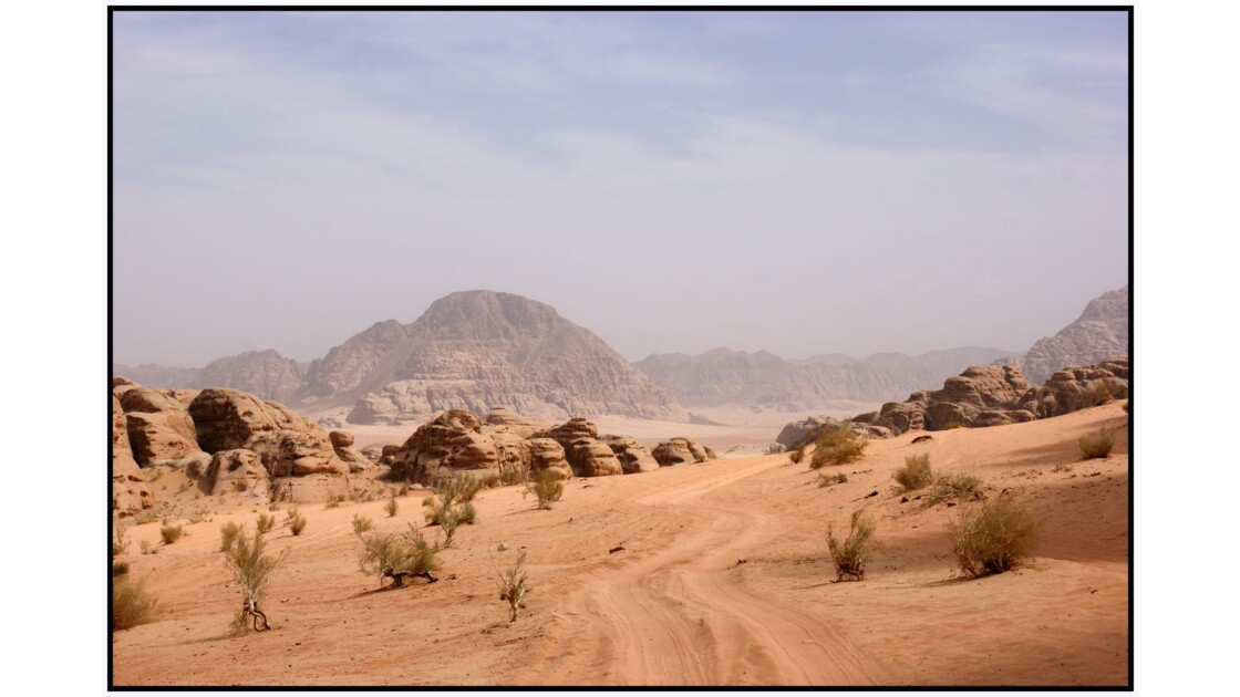 Wadi Rum - Le désert entre Siq Burrah et Mahrras