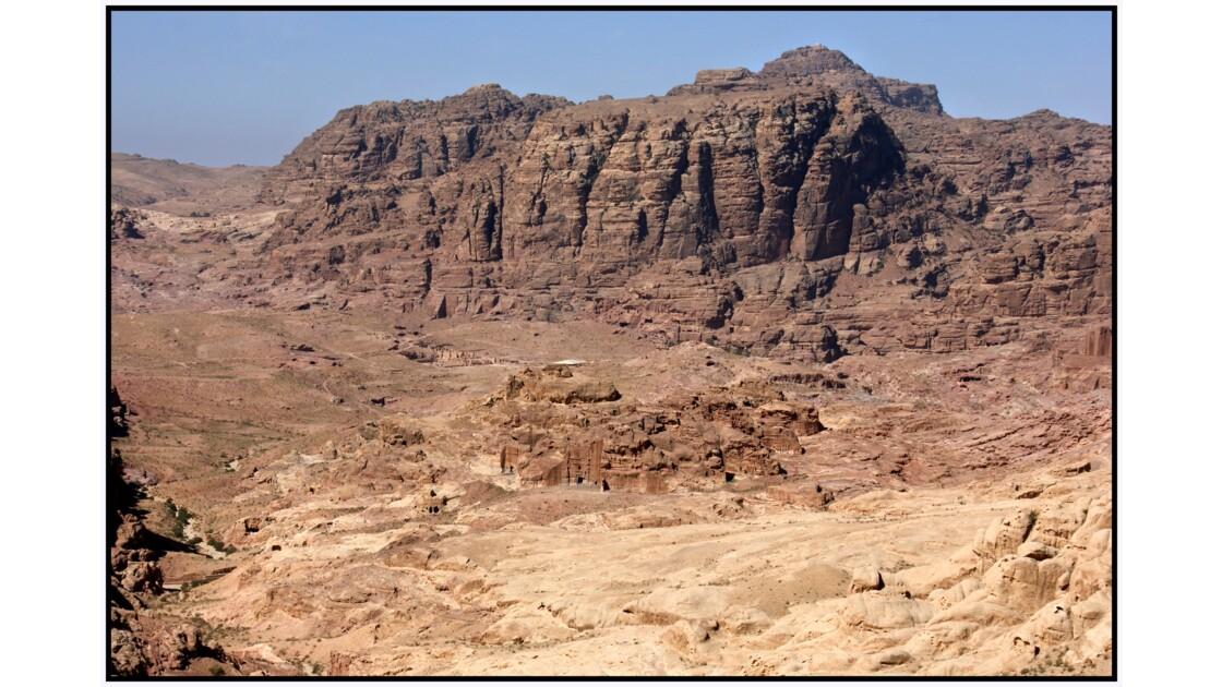 Site de Pétra depuis le nord