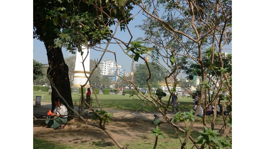 Myanmar Yangon Jardin Mahabandola 7