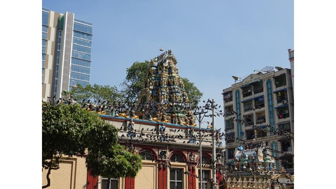 Myanmar Yangon Les oiseaux du Temple indien Sri Kali 2