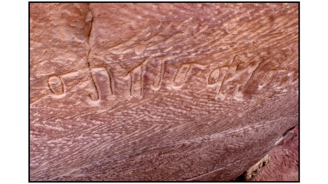 Pétra - Inscriptions nabatéennes dans le Wadi As-Siyyagh