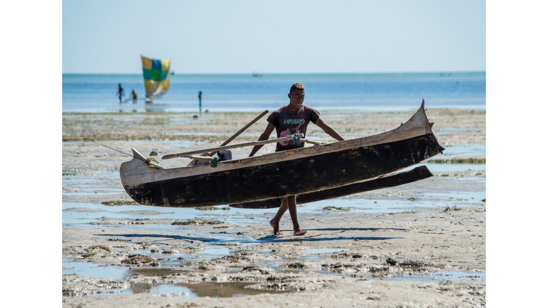 Retour de pêche à marée basse...