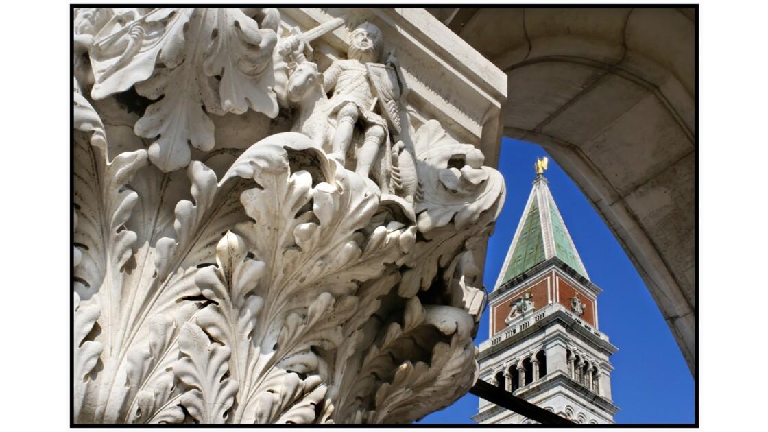 Venise - Campanile et arche du Palazzo Ducale