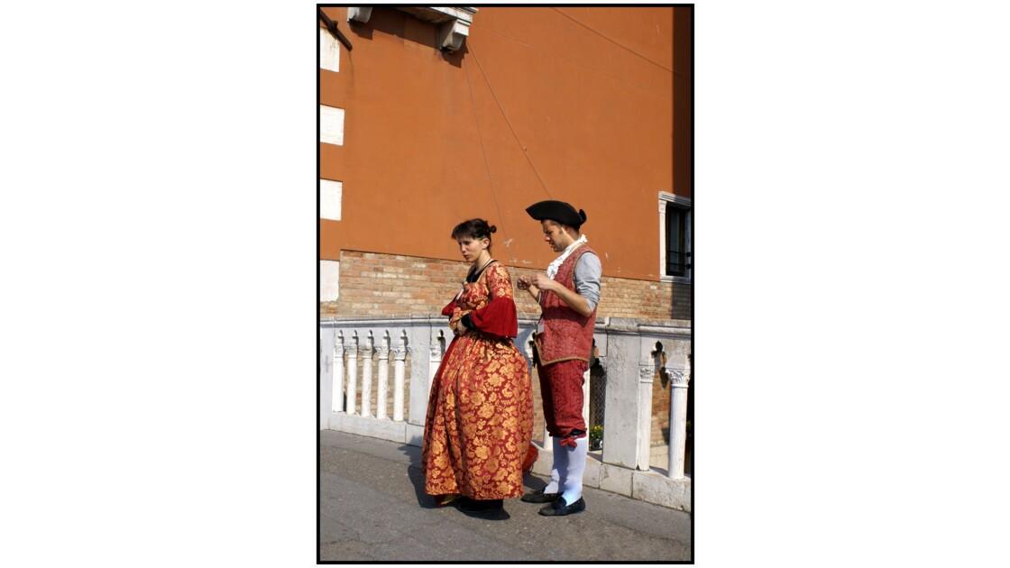 Venise - Attrape-touristes sur le pont de la Riva degli Schiavoni