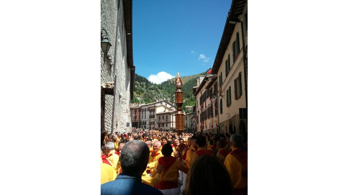 Fete des Cierges à Gubbio