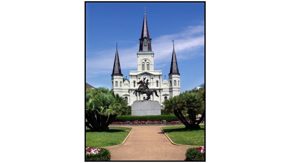 New Orleans, LA - Cathédrale St Louis et Jackson Square
