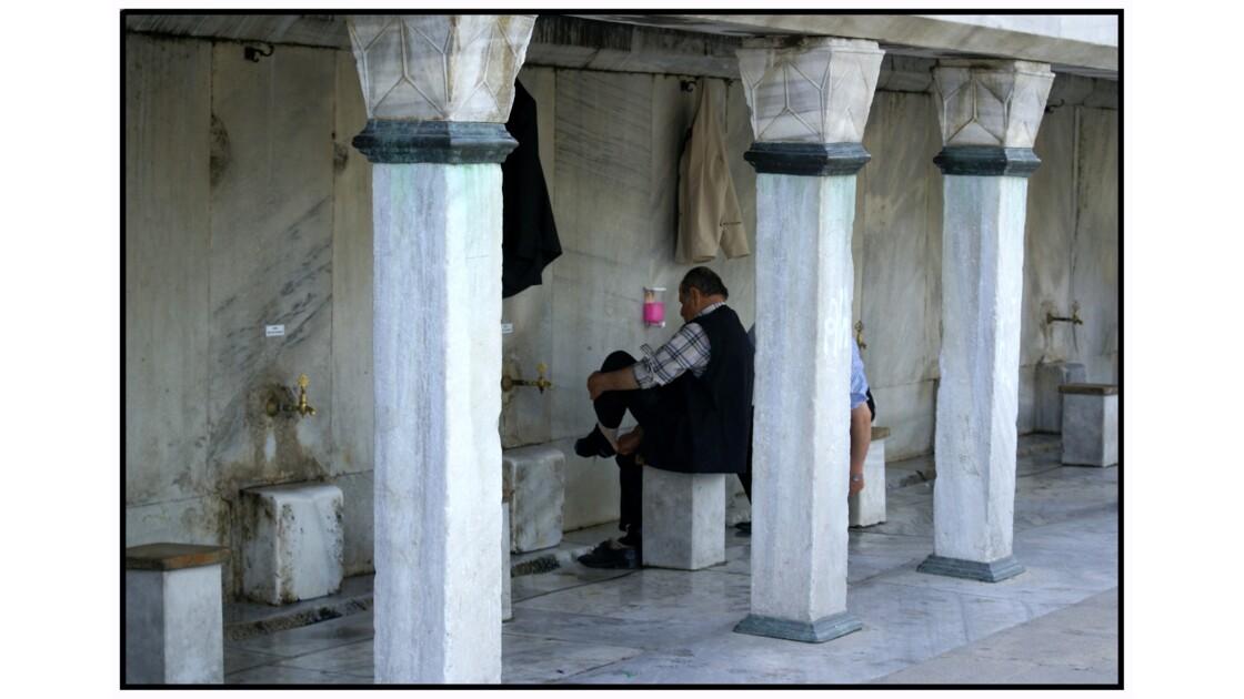 Istanbul - Fontaines d'ablution de la Mosquée Bleue