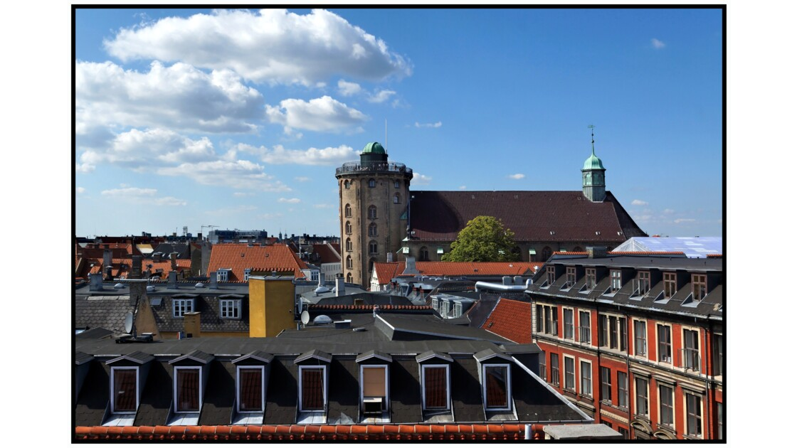 København depuis la terrasse du Post & Tele Museet - Rundetårn