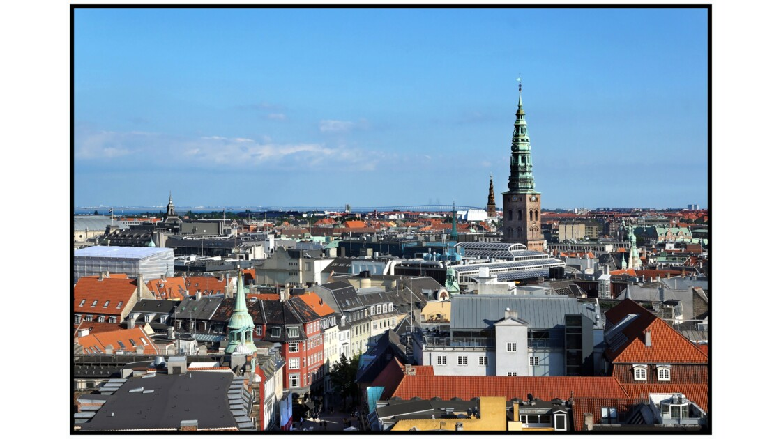 København depuis la Rundetårn - Nikolaj Kirke