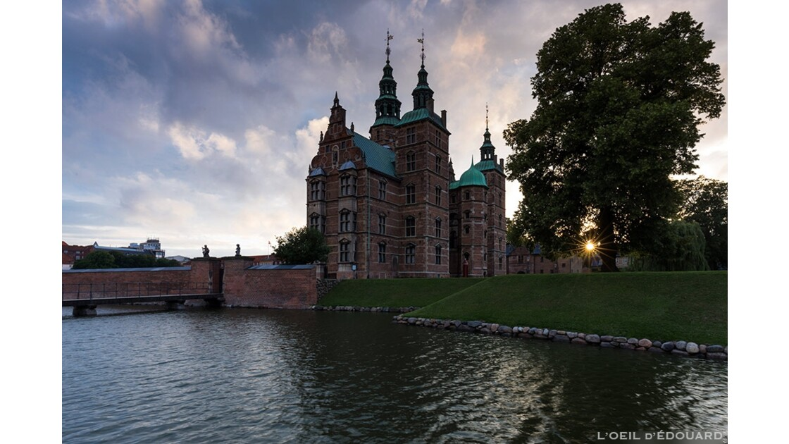 Château Rosenborg Slot dans le parc Kongens Have, Copenhague