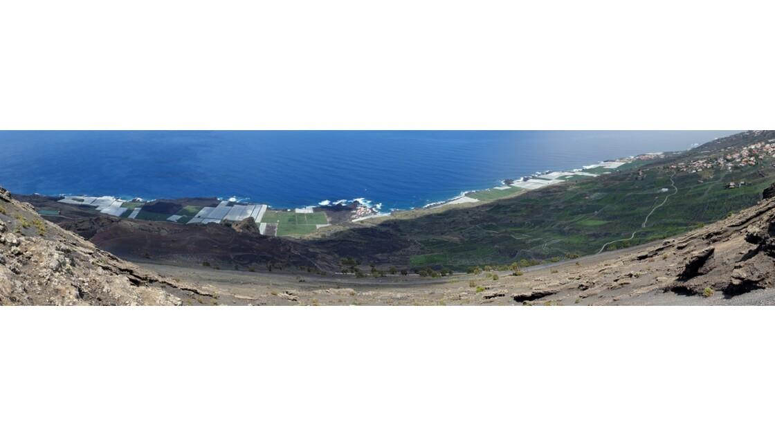La Palma La côte vue du Volcan Santonio 4