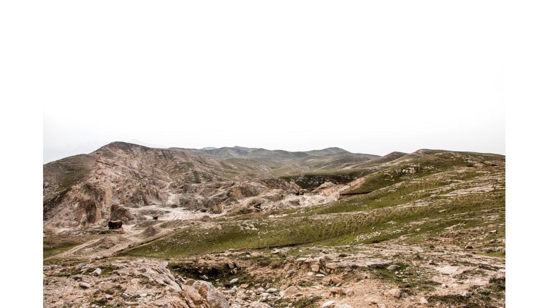 Paysages secs du désert de KyzylKoum