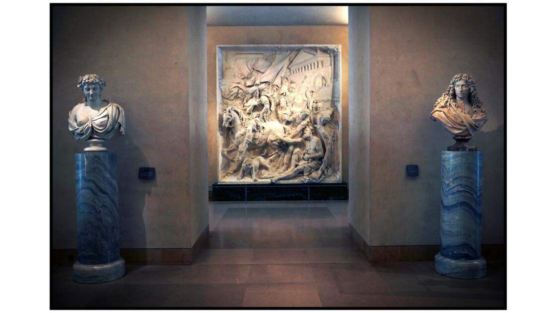 Paris - Le Louvre, Pierre Puget : Alexandre et Diogène