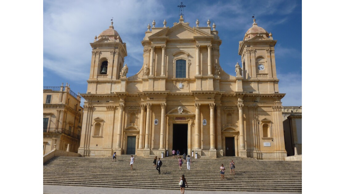 La cathédrale baroque de Noto, restaurée