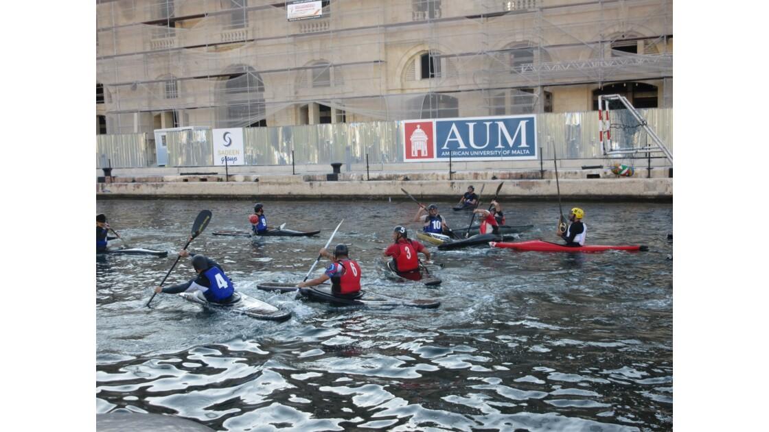 match de kayak basket port la valette