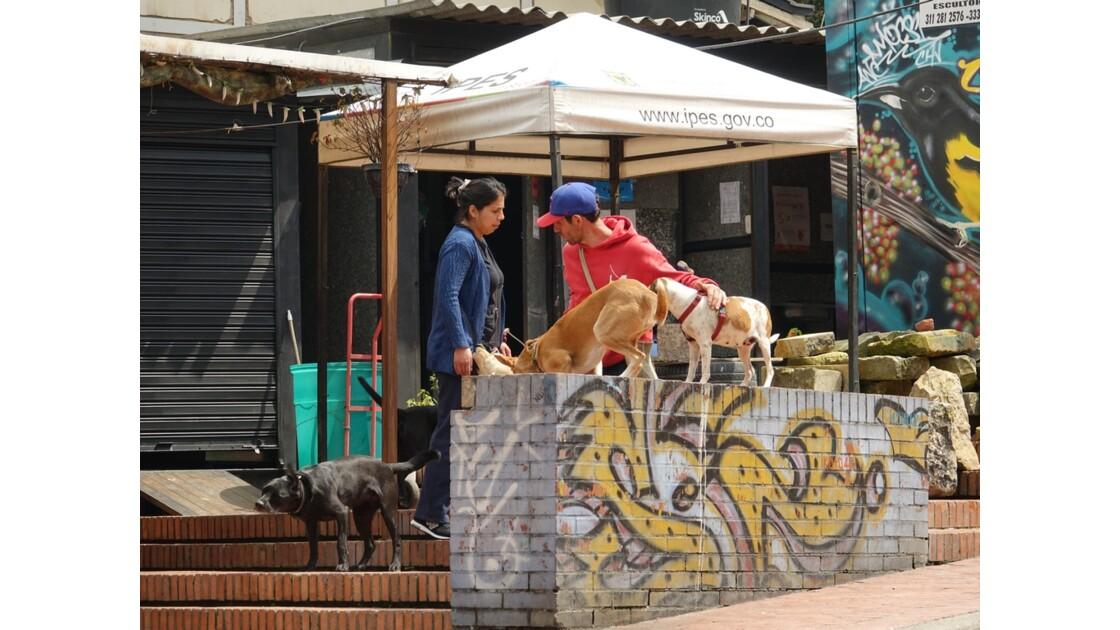 Colombie Bogota La Candelaria Les maîtres sont revenus