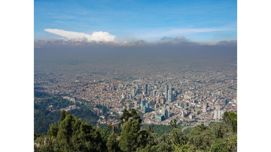 Colombie Bogota vue du Cerro Monserrate 1