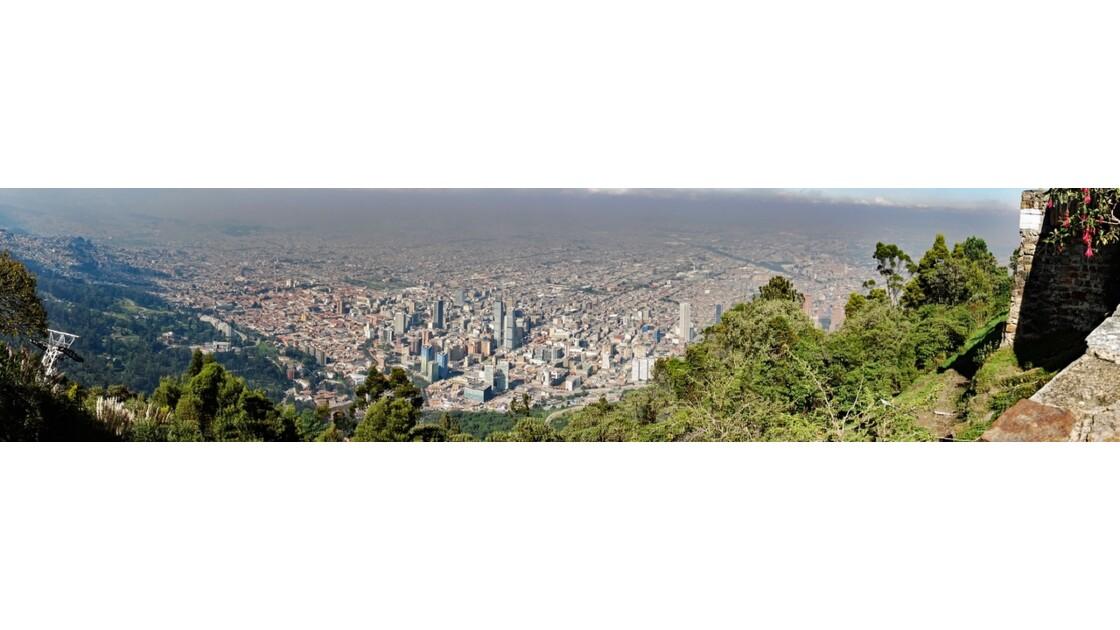 Colombie Bogota vue du Cerro Monserrate 2