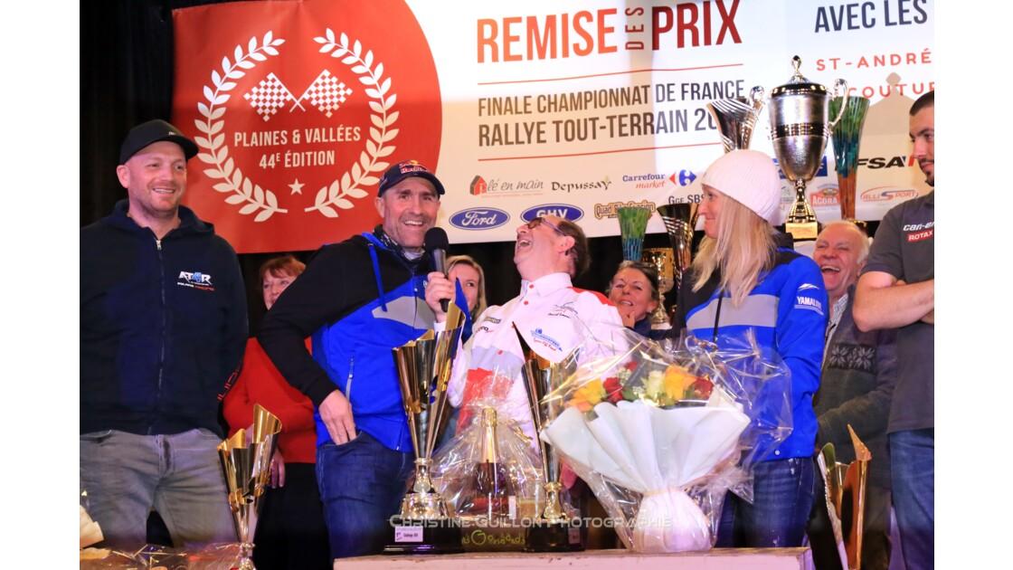 Stéphane et Andréa Peterhansel, vainqueurs SSV du rallye Plaines & Vallées 2017