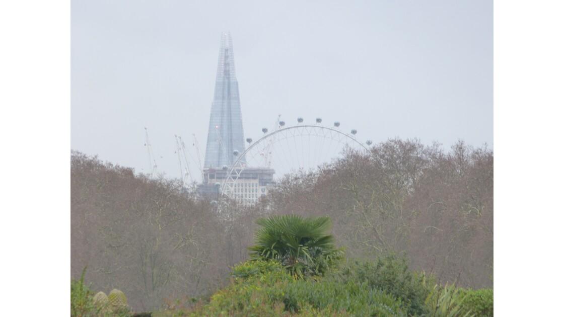 Parc, London Eye et Shard