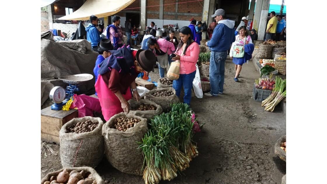 Colombie Silvia le marché aux pommes de terre 9