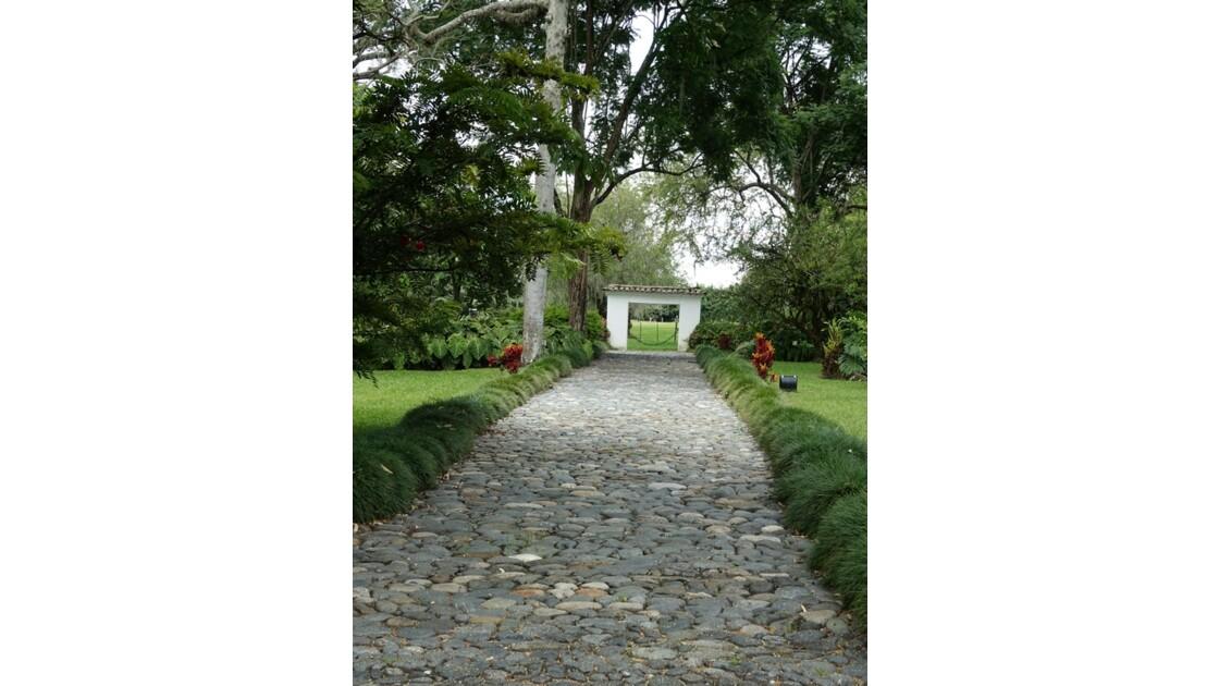 Colombie Hacienda Piedechinche Entrée principale de la casa colonial