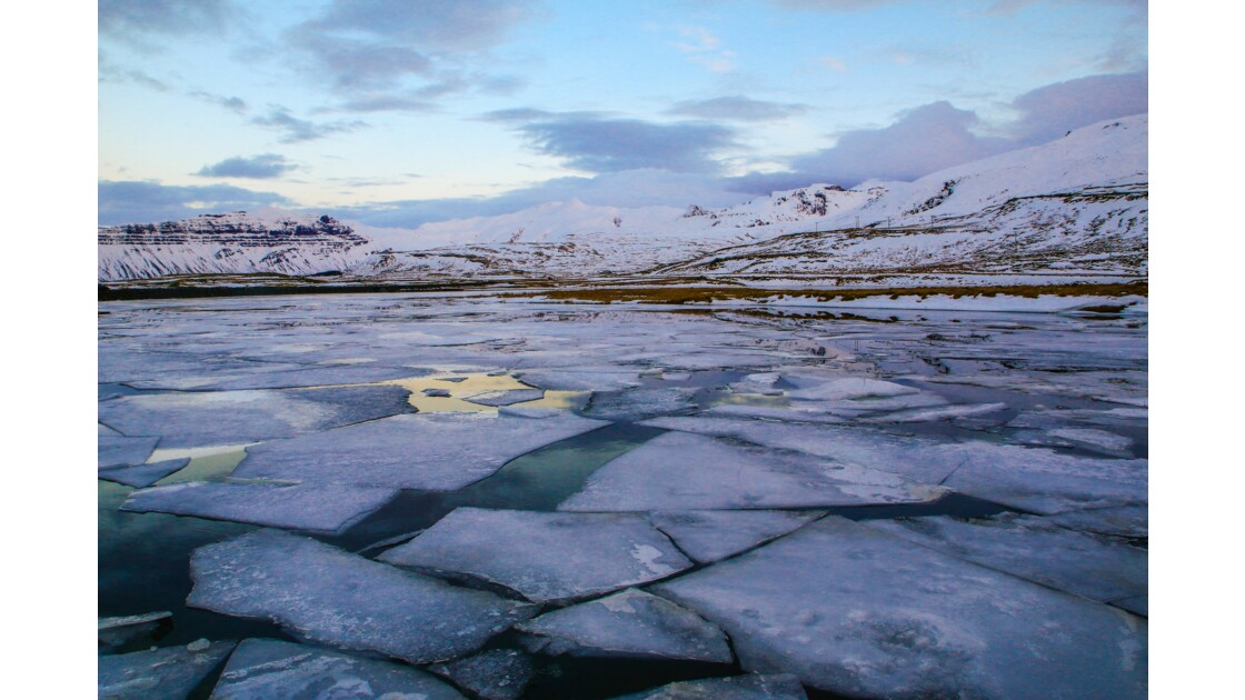 mosaïque de glace