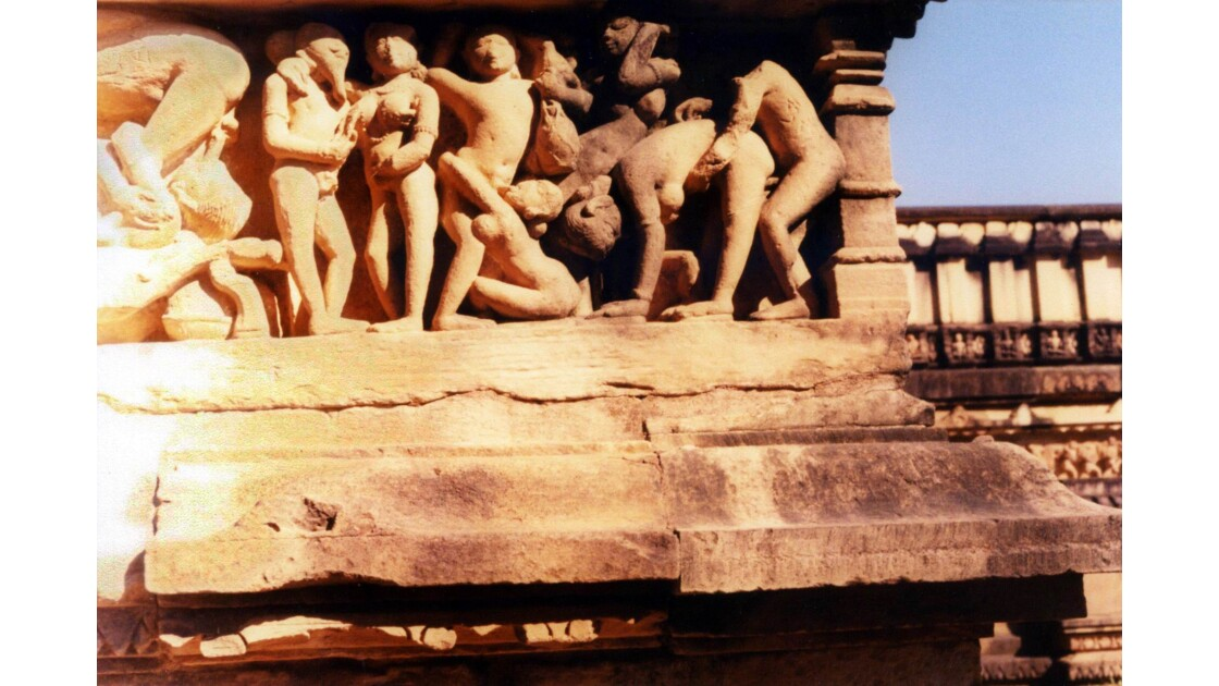 Fresques érotiques temples de Khajuraho