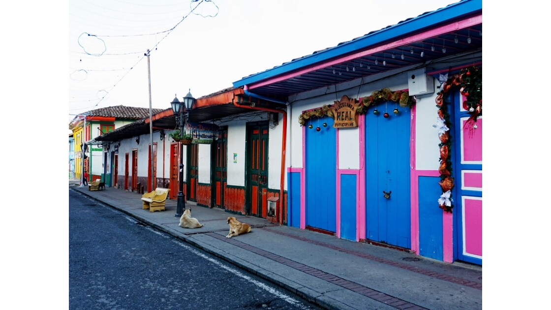Colombie Salento Calle Real au petit matin 18