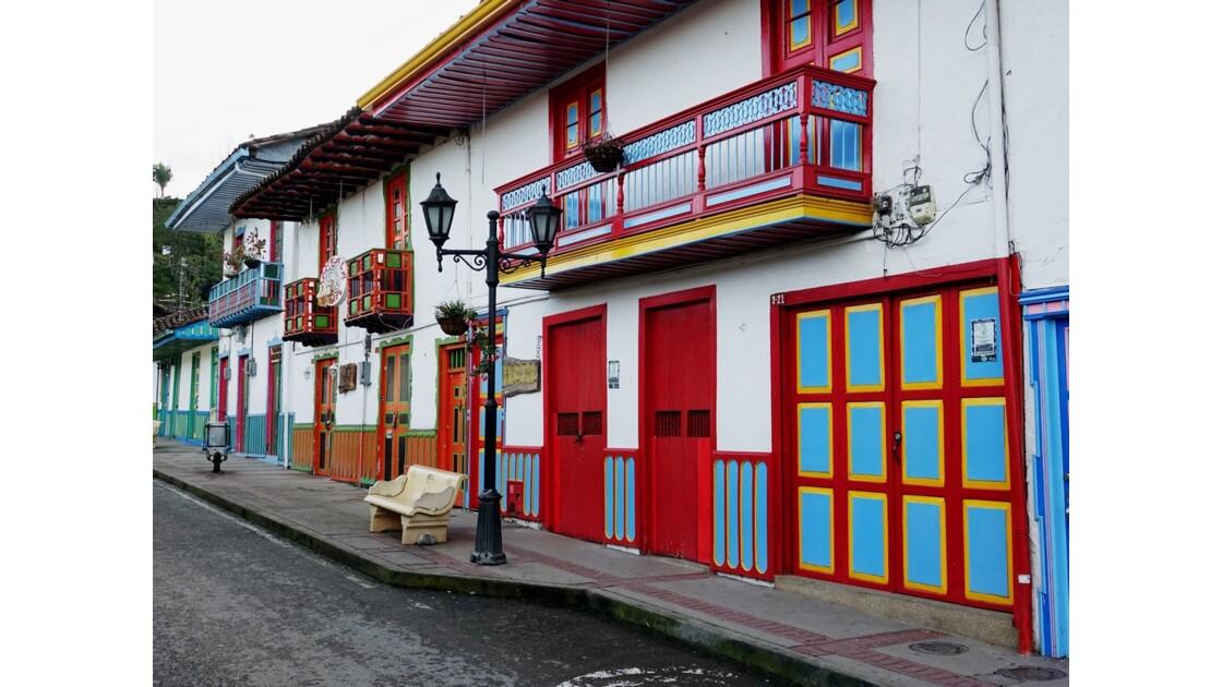 Colombie Salento Calle Real au petit matin 22