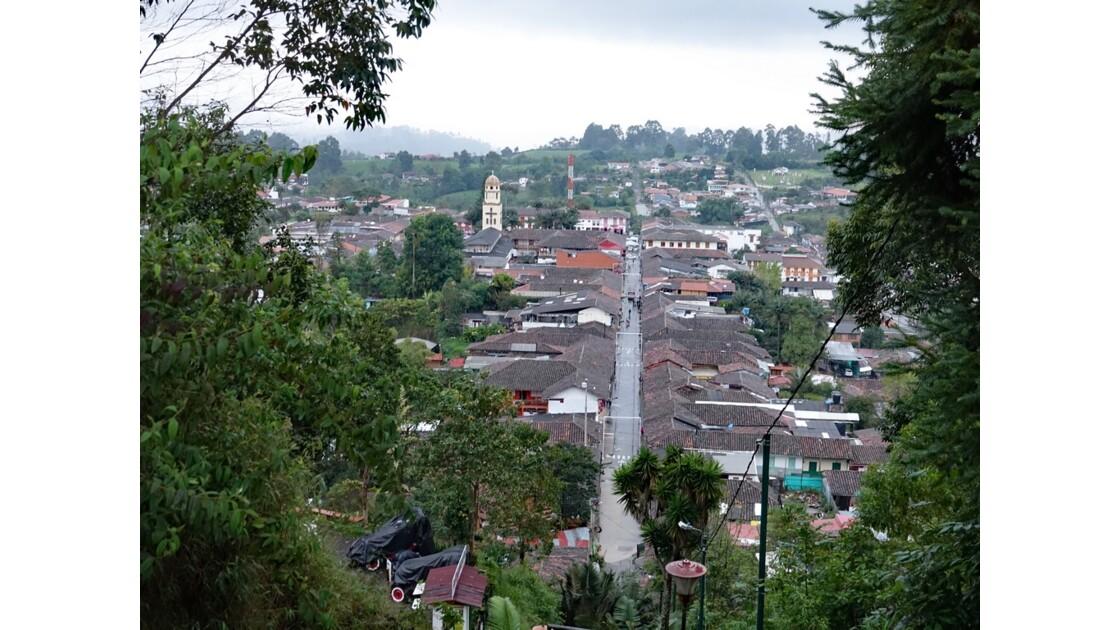Colombie Salento Calle Real vue du Mirador d'Alto de la Cruz 1