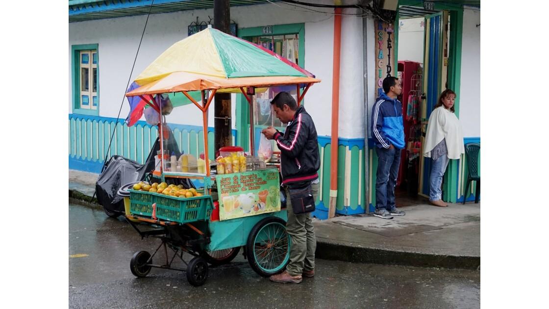 Colombie Salento Calle Real sous la pluie 5