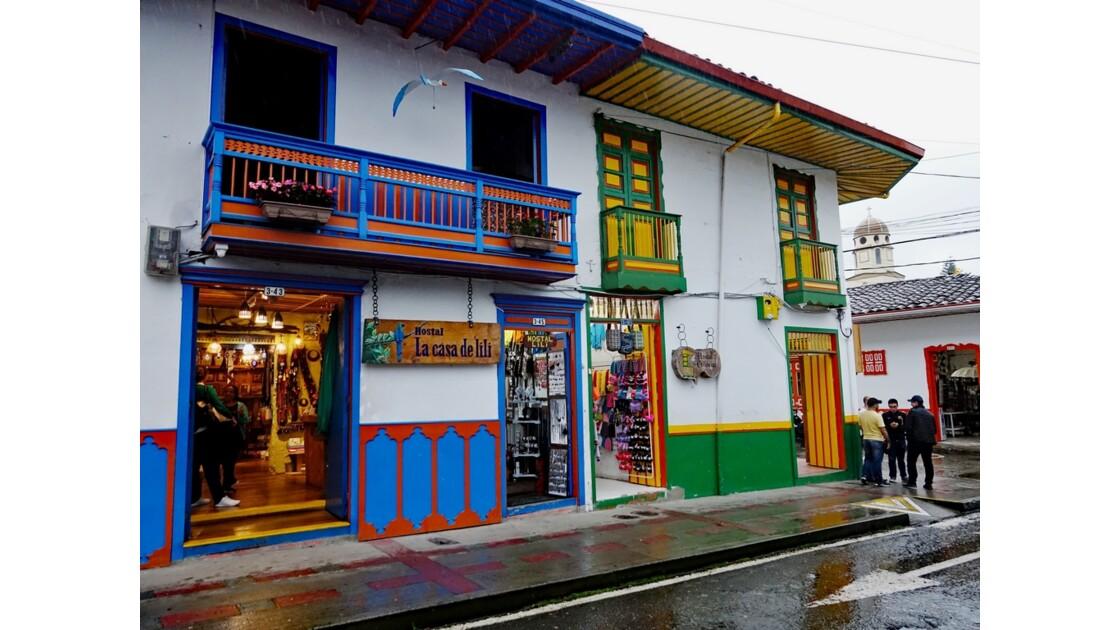 Colombie Salento Calle Real sous la pluie 11