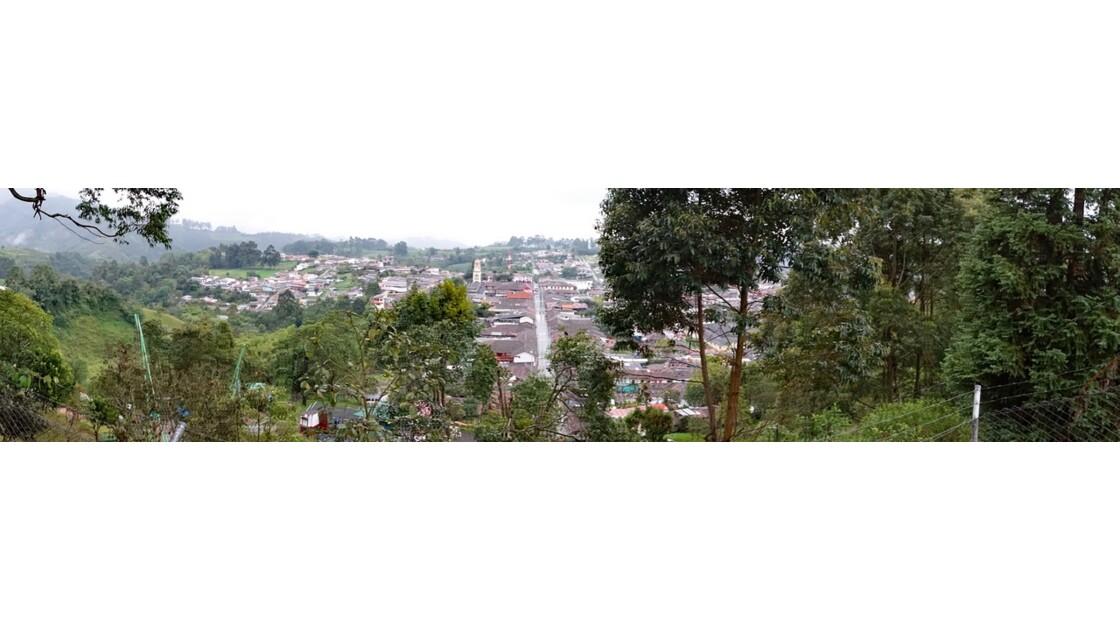 Colombie Salento vue du Mirador d'Alto de la Cruz 1