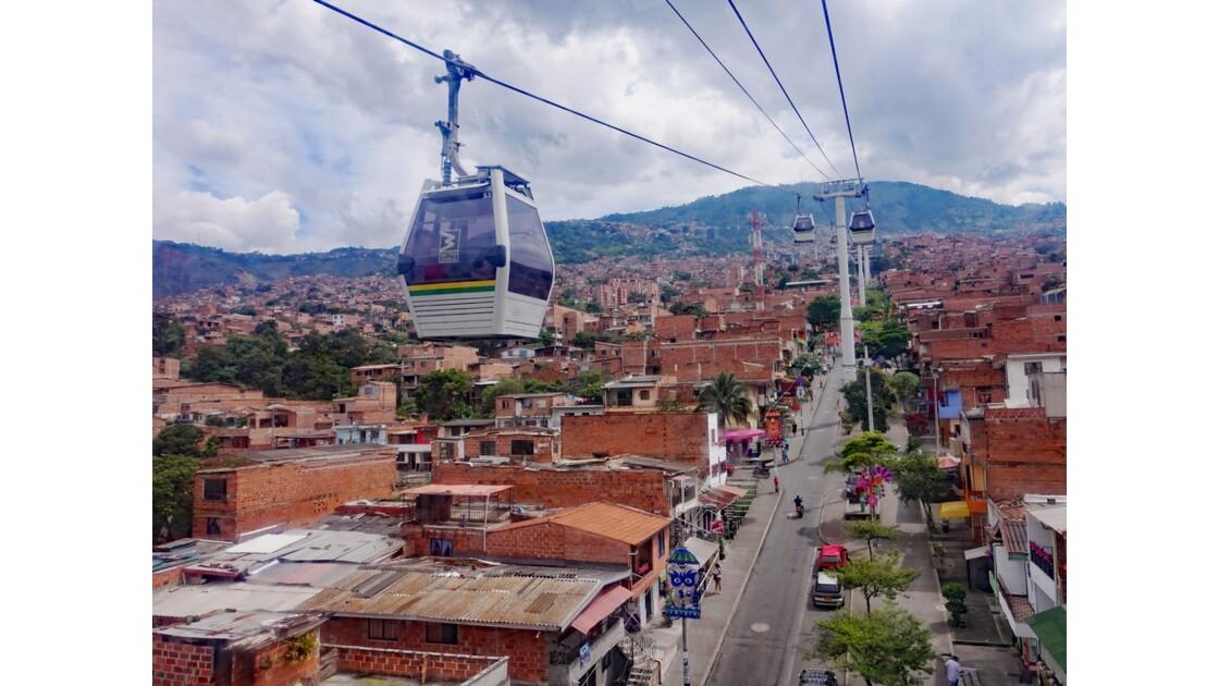 Colombie Medellin Metro cable 1