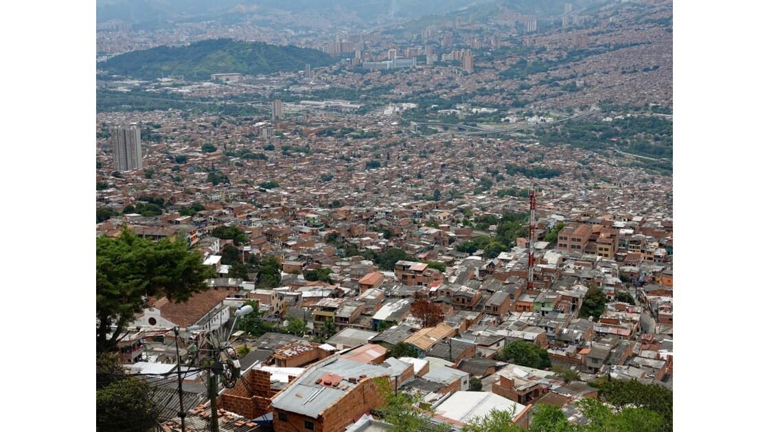 Colombie Medellin vue du Metro cable