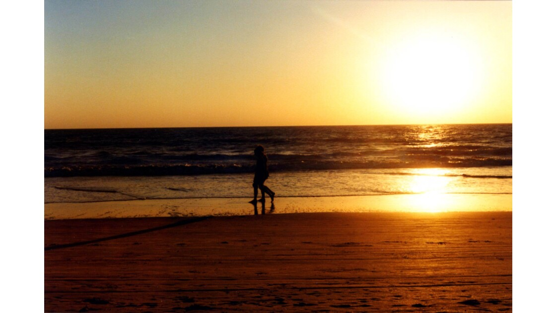 Coucher de soleil sur la plage de Colva