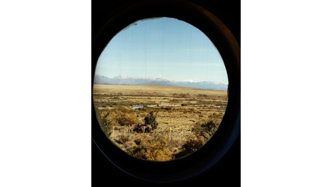 Vue des toilettes du Train Patagonico