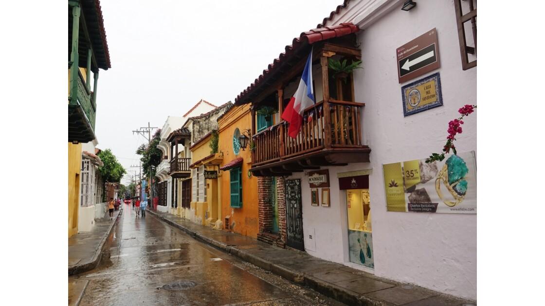 Colombie Cartagena Barrio San Diego sous la pluie 1
