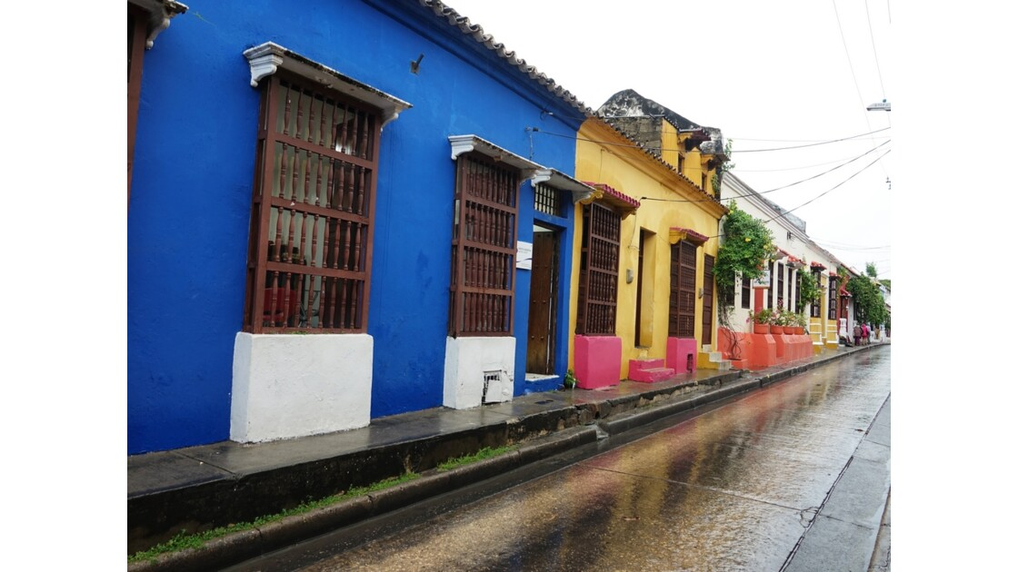 Colombie Cartagena Barrio San Diego sous la pluie 3
