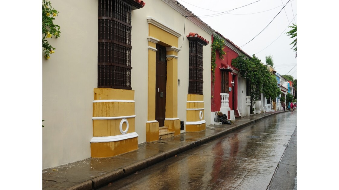 Colombie Cartagena Barrio San Diego sous la pluie 5