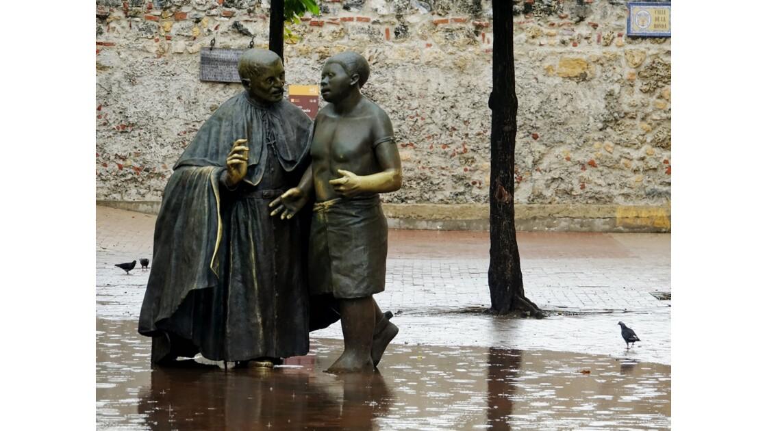 Colombie Cartagena Plaza San Pedro Claver Corbero sous la pluie 3