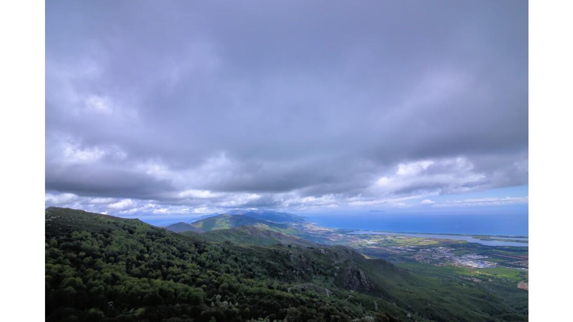 Le Cap Corse vu des montagnes