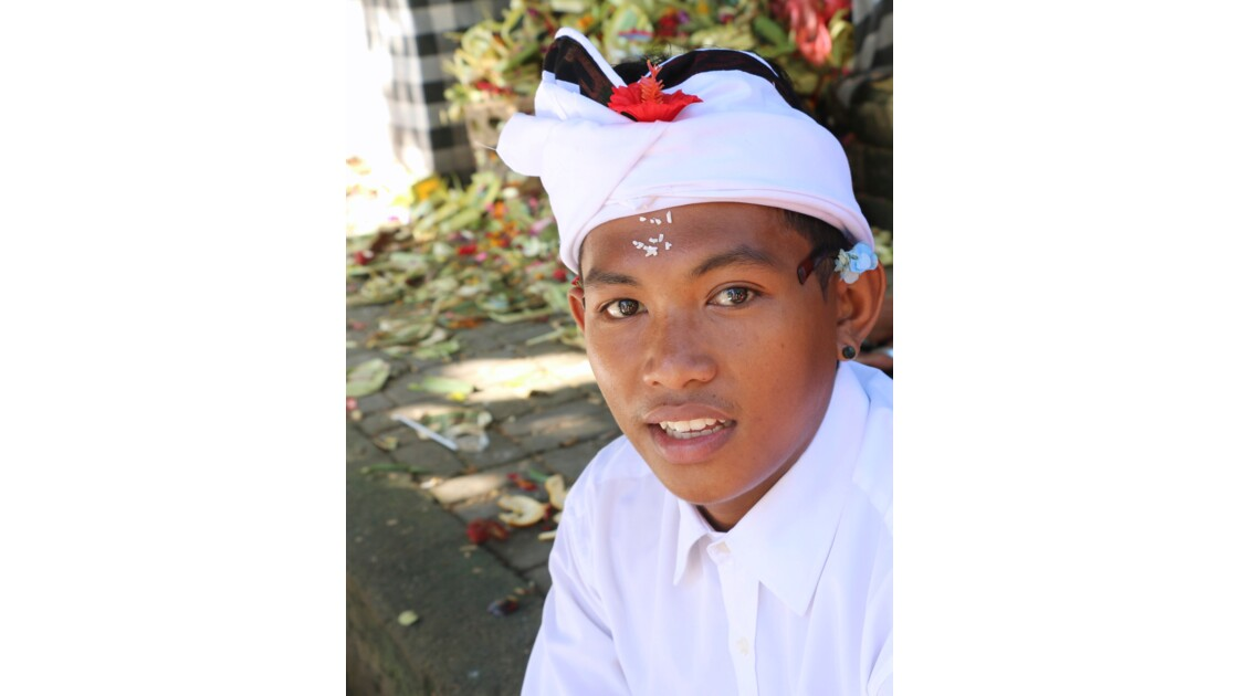 Portrait d'un Balinais