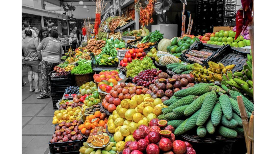 Fruits de Madère - marché de Funchal