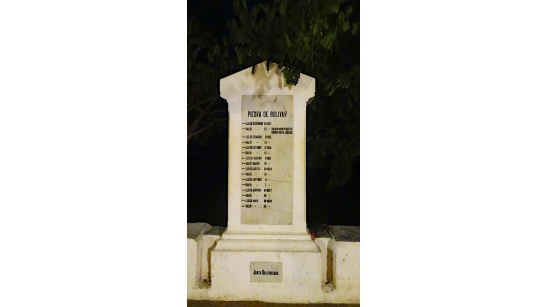 Colombie Mompox Piedra de Bolivar