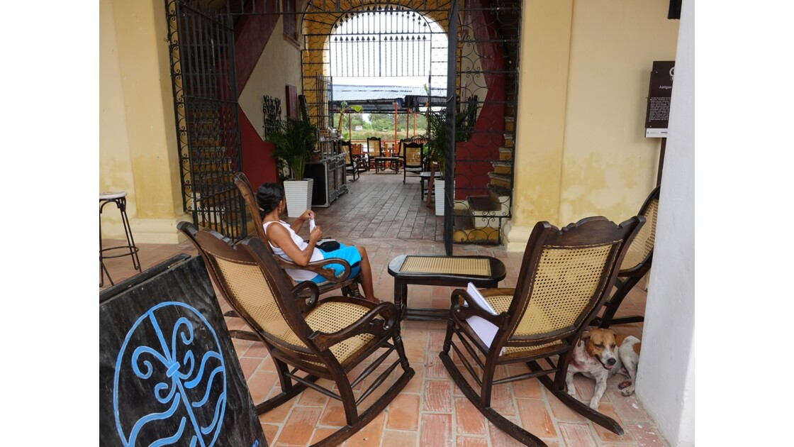 Colombie Mompox Antiquo mercado Les Rocking-chairs