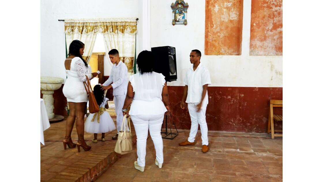 Colombie Mompox Iglesia de San Francisco Le baptème 4