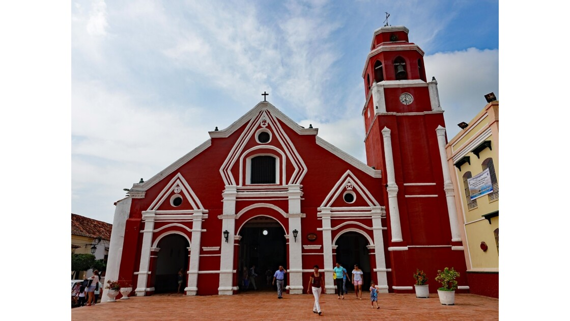 Colombie Mompox Iglesia de San Francisco sortie de messe 8