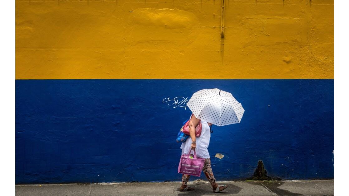 La passante au parapluie